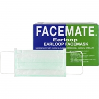 Mondmaskers Earloops FaceMate Groen