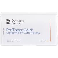 Gutta Percha Points Comfort Fit ProTaper Gold F1